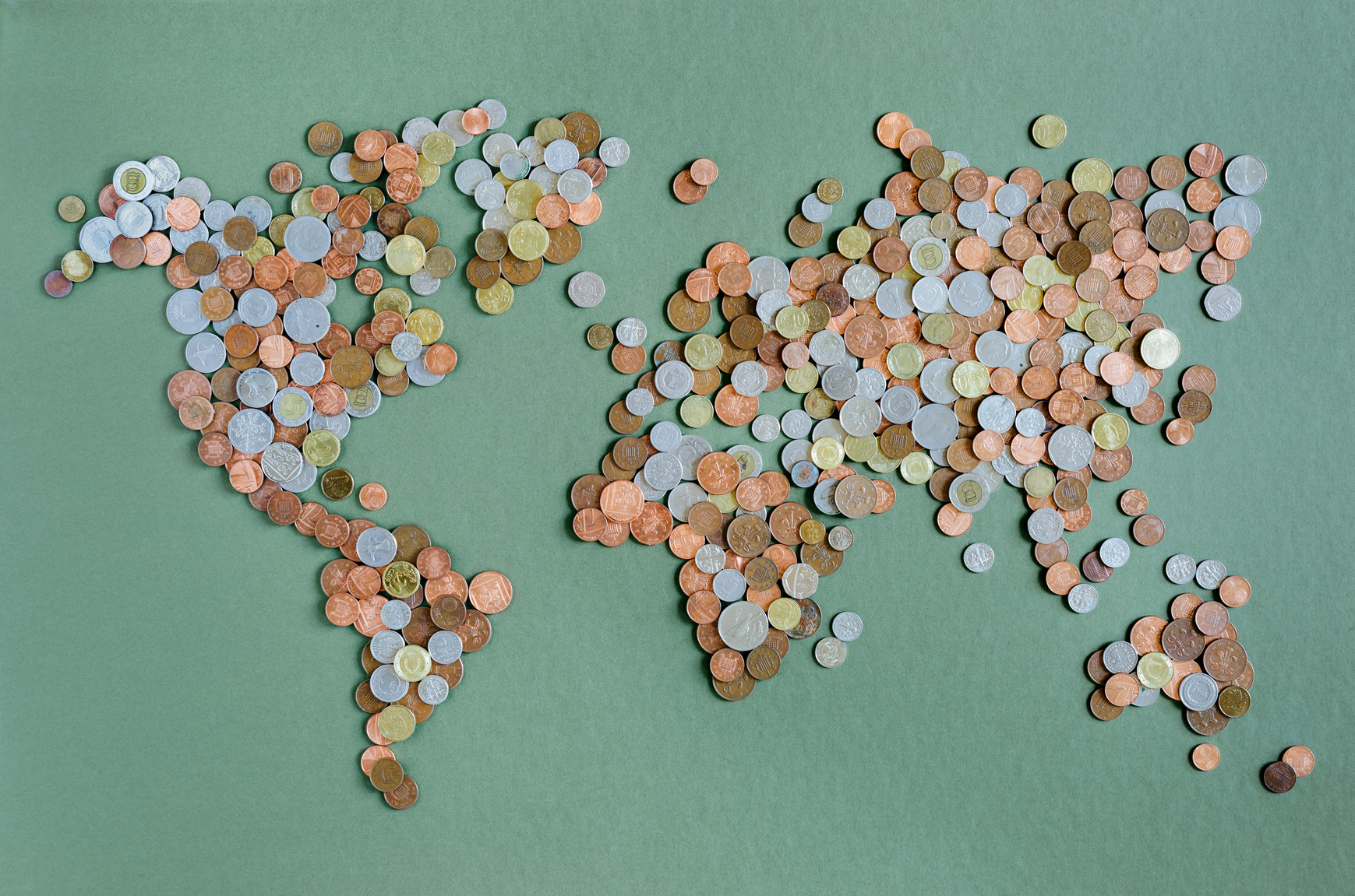 World Map In Coin Collection