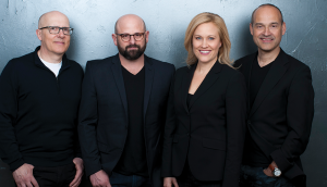 The Juniper Park\TBWA leadership team, from left to right, CSO Mark Tomblin, CCO Graham Lang, CEO Jill Nykoliation, Managing Director David Toto. Lang joined the agency in December from South Africa.