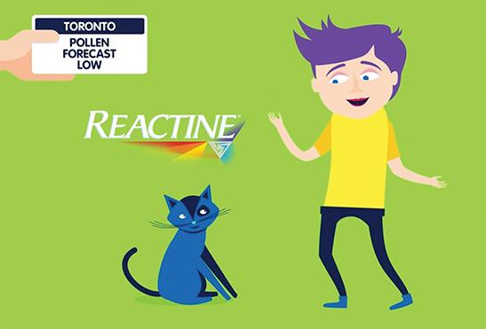 Reactine Pollen Alert Campaign image