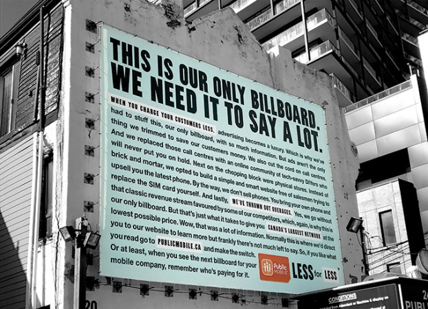 Less For Less Billboard