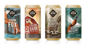 The agency launched the new craft beer company High River Brewery, including naming and designing labels, with the creative playing off the town's well known history with floods.