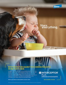"Elanco's ""Share Everything"" campaign encourages people to get up-close and personal with their dogs, with the help of de-worming medication, of course."