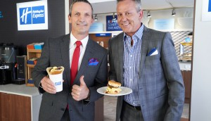 Holiday Inn Express-Hockey Legends Doug Gilmour and Guy Carbonne