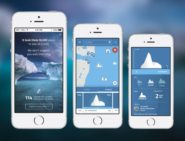 """IcebergFinder.com is a fully responsive and interactive site that uses real-time data to locate and track icebergs drifting along the coastline. Target's digital teams designed and developed  his hugely popular HSMAI platinum award winner """"as a useful and helpful tool for travellers"""" which also provides Google Map directions, and enables photo sharing."""