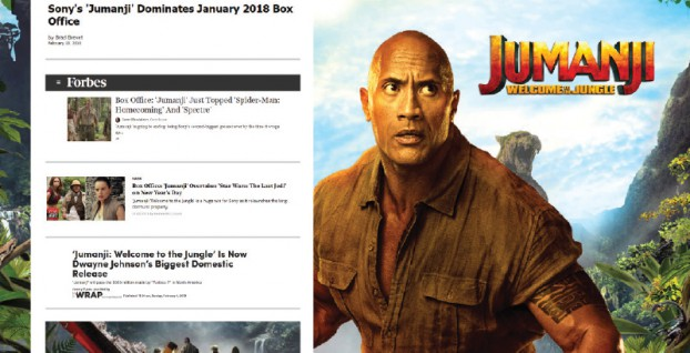 UM's Decision Science team used precision targeting to help Sony Pictures Canada's Jumanji: Welcome to the Jungle win an epic box-office showdown during the hyper-competitive holidays. The film maintained a top position at the box office for over a month, going on to become Sony's highest grossing film of all time domestically.