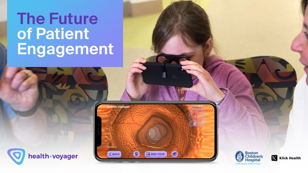 Klick Health worked with Boston Children's Hospital to develop HealthVoyager, a bespoke VR platform to help patients visualize and understand their medical conditions and treatments.