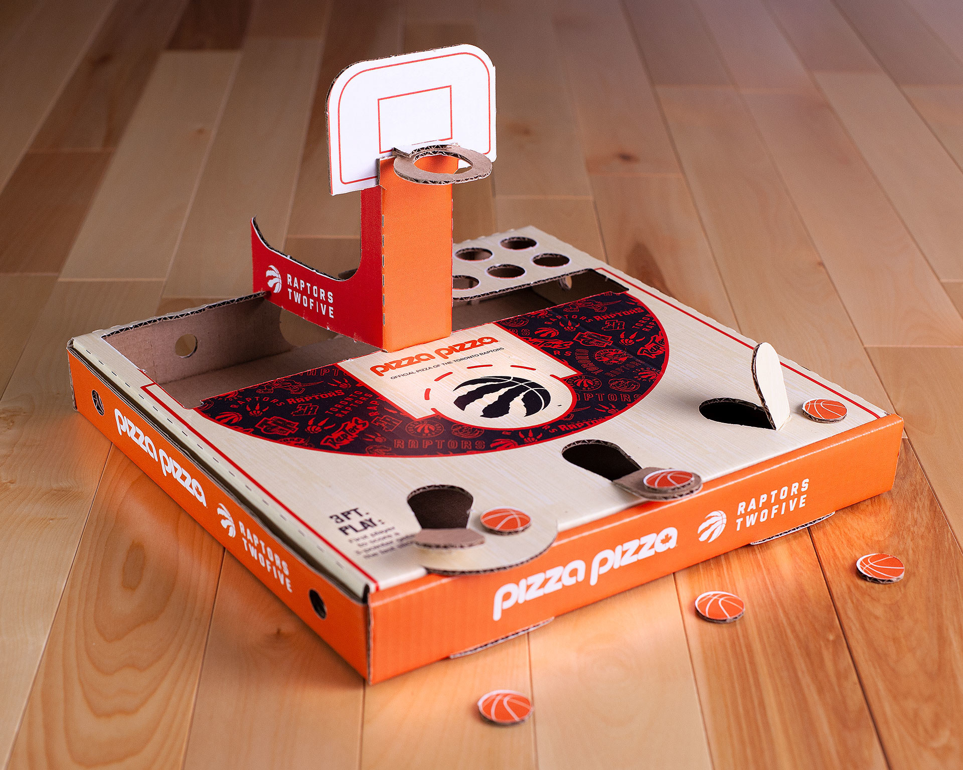 Pizza Pizza Turns Its Box Into A Basketball Court 187 Strategy