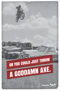 The Backyard Axe Throwing League: BATL and G&G propose an adrenaline rush alternative without the threat of death.