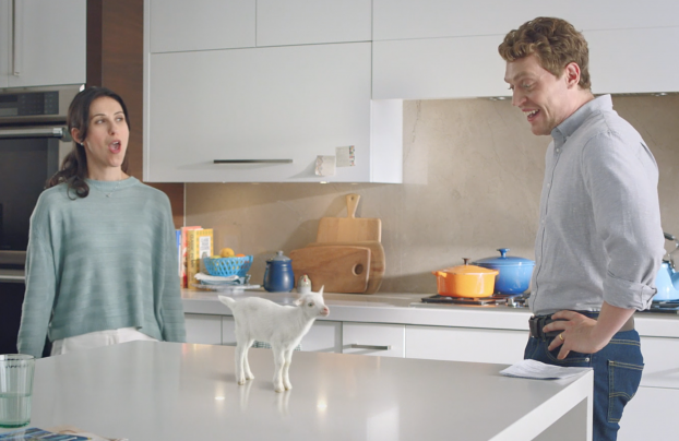 """To establish goat milk formula in the US, Kabrita turned to Mackie Biernacki, which created a digital video campaign and online assets that featured a voice-activated """"smart goat"""" that provided useful information on the benefits of formula made from goat milk."""