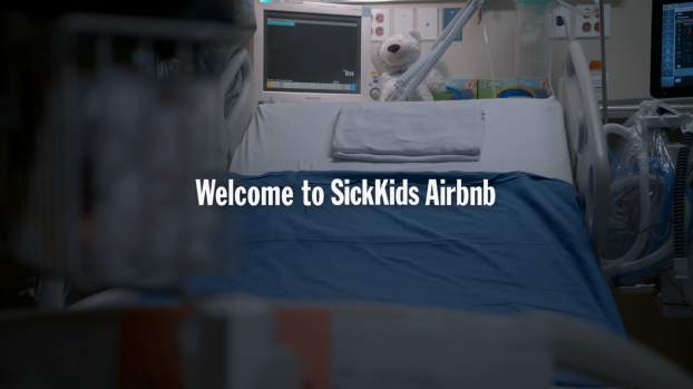 An earned media activation partnering SickKids Hospital with booking site Airbnb brought wide attention to the cramped conditions at the hospital, dramatizing the need for a new building.