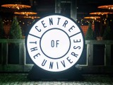 The Centre of the Universe installation originally appeared at the Toronto Light Festival intended to make people appreciate where they were in the moment. It's since been booked around the country and it's associated merchandise often sells out.