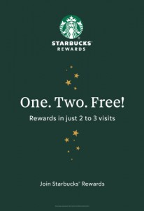 """Elemental and Starbucks partnered to launch a National Starbucks Rewards campaign using a simple straight forward approach to remind Canadians why Starbuck's loyalty program was the favourite amongst Canadians. It doesn't get simpler than """"One Two Free."""""""