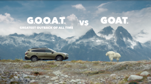 To demonstrate the off-road capability of the new Subaru Outback, the campaign pitted it against the ultimate off-road explorer: a mountain goat.