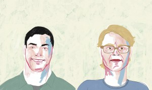 Chis and Ian portraits