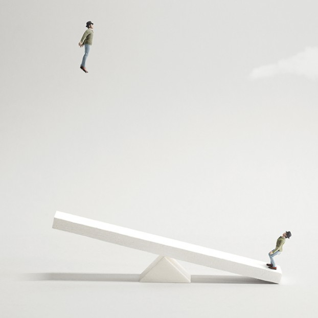 try to fly, teamwork concept
