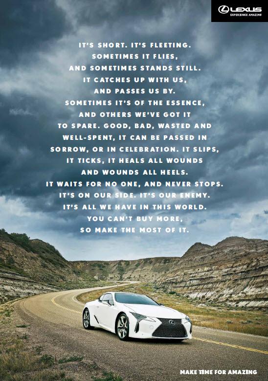 Lexus Brand Manifesto
