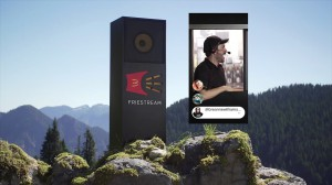 For National Fry Day, Thinkingbox worked with McDonald's Canada and Cossette in collaboration with WondrMakr and Quiver to create a Kiosk that allowed fry fans to proclaim their love from a mountain top via a massive mock drive-thru