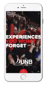 The University of New Brunswick's three-ad Snapchat campaign captured gold at the Education Digital Marketing Awards.