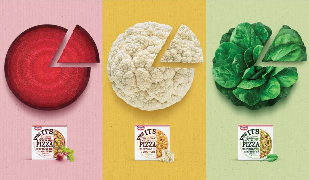"""Yes It's Pizza"" challenges perceptions of a freezer-aisle staple. This campaign for Dr. Oetker's veggie-crust pizza dares shoppers to discover just how much like traditional 'za this product really is."