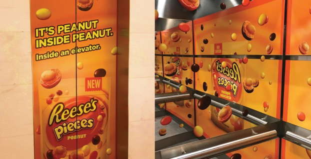 To launch Reese's Pieces Peanut, UM riffed on the 'story-within-a-story, dream-within-a-dream' theme behind the sci-f thriller Inception. It launched Peanutception in elevators outftted with infinity mirrors – an industry first – followed by custom 3D OOH superboards and 'ads within ads' on TV and online video, and 'posters within posters' in transit shelters. The campaign over-delivered sales targets by 282%.