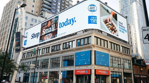 Amex Shop Small - Yonge Dundas Billboard