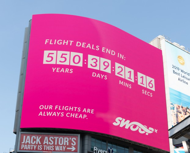 Swoop Is Letting Deal Hungry Passengers Take Their Time Strategy