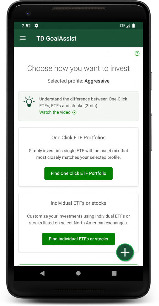 GoalAssist offers varying levels of customization for choosing ETFs, the prefered investment product of those seeking simple options.