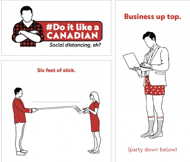 As part of the U.N.'s COVID-19 Creative Response, bMod drew on national pride and Canadian identity to encourage everyone to follow the rules.
