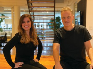 CloudRaker executive director, pharma Joyce Thuss and CEO Thane Calder in the agency's Montreal office.