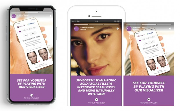Working with Allergan Aesthetics (an Abbvie Company), McCann Health launched a social campaign leveraging AR to help customers experience the science behind Juvéderm's natural-looking results.