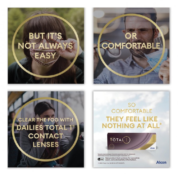 Working with Alcon Canada, McCann Health created a series of social posts related to eye comfort during the COVID-19 era.