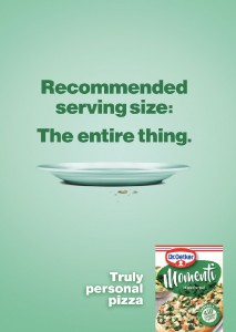In a year when people are forced to remain distant from each other, the benefits of being alone might not seem obvious. When it comes to pizza, however, not having to share is a winning situation. A print campaign for Momenti personal pizzas for Dr. Oetker leans into the pleasures of eating for one.