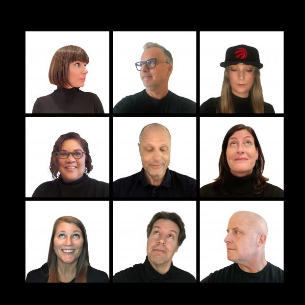 The doug&partners senior team: (left to right, top row) Julie Haroutunian, Doug Robinson, Moxie Garrett; (middle row) Bonnie Lall, Matt Syberg-Olsen, Kristin Burnham; (bottom row) Kim Hunter, Eric Baldakin, Adam White.
