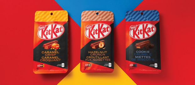 To show off KitKat's new flavours, Jacknife designed some premium packaging.