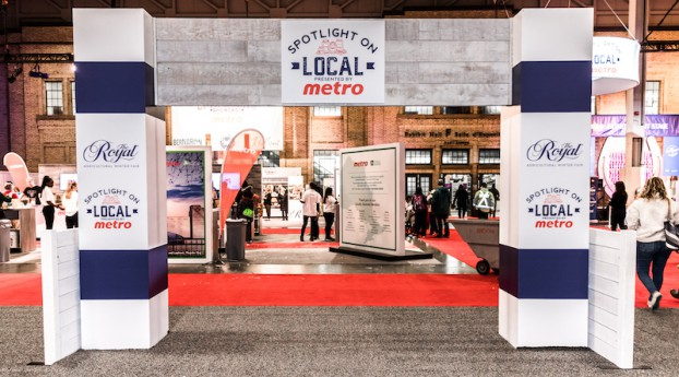 """Attendees of The Royal Agricultural Winter Fair visited Metro's """"Spotlight on Local"""" to sample delicious goods from its locally sourced vendors. The program supports local producers in seven regions of Ontario, demonstrating Metro's promise of being at the heart of the community."""
