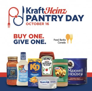 """Proof launched """"Project Pantry"""" for Kraft Heinz on World Food Day. The program invited Canadians to join in the fight against food insecurity by purchasing a Kraft product at any grocery store, thereby triggering a matching donation from the brand to Food Banks Canada."""