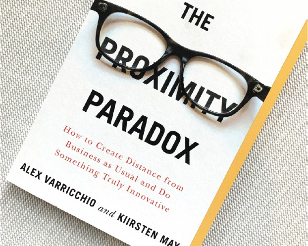 """As the world learned the concept of physical distancing, the book Alex Varricchio and Kiirsten May co-authored on """"creating a distance from business as usual"""" was published in March."""