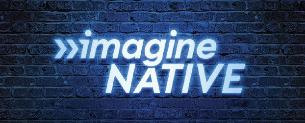 The imagineNATIVE festival's original logo was created by prominent Indigenous artist Kent Monkman. After 20 years, the festival had evolved to include more storytelling media and had grown into an organization that supports Indigenous storytelling year round by offering training and programming for artists. UpHouse respected Monkman's work while evolving the logo to make room for other storytelling platforms: AR, VR and interactive.