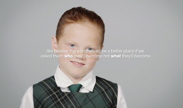 """For the Balmoral Hall girl's school in Winnipeg, UpHouse created a video asking students what they want to be when they grew up, then flipped it to say """"We think the world would be a better place if we asked our kids who they wanted to be when they grew up instead of what they wanted to do for a living."""" The tagline sentiment of """"we see your daughter not for what she'll do but for who she'll become"""" resonated and drove 100% enrolment."""