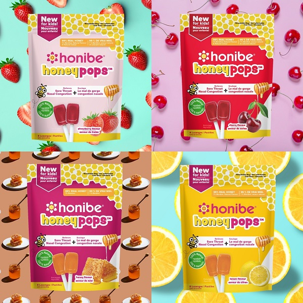 Honibe--Honibe- launches HoneyPops- the first pure honey throat