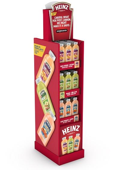 Kraft Heinz BIL Crowdsauced Floorstand ENG