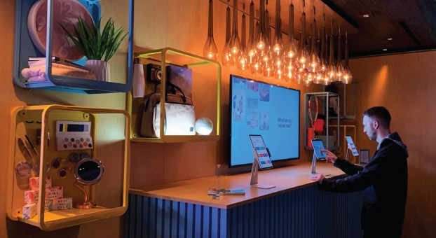 Pinterest engaged Thinkingbox to help bring its recently launched Trends tool to life at the 2020 Consumer Electronics Show (CES). When guests selected one of the six trends (Home, Travel, Health & Wellness, Food, Beauty, and Style), the object would light up on the wall, showcasing the trend in person for the guest.