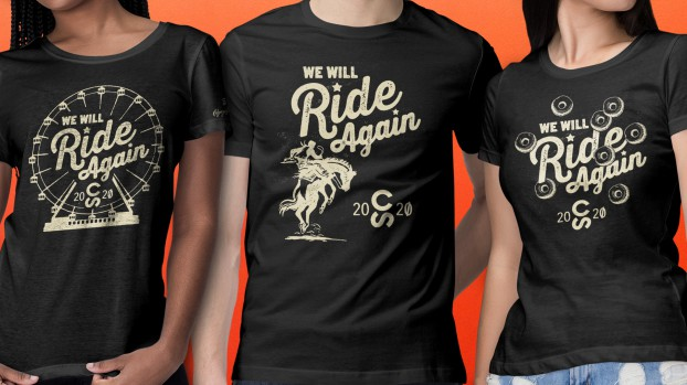 """Due to COVID-19, the 2020 Calgary Stampede was cancelled for the first time in its history. To keep the brand top-of-mind and help raise money in a year of depleted revenues, C&B designed """"We Will Ride Again"""" Stampede T-shirts that sold out."""