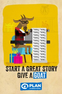 To encourage donations over the holiday season, Plan International Canada gave doug&partners the dream brief: ask people to give goats to each other as charitable holiday gifts. The agency obliged with an online campaign of charming, animated stories.