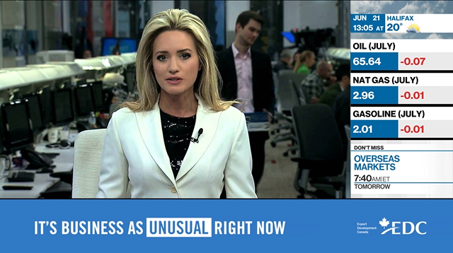 EDC's national #BusinessAsUnusual campaign aimed to support and inspire business owners and professionals suffering business loss due to the pandemic. The campaign included TV, online video, radio, print, digital and social media channels and included customized sponsorships with BNN Bloomberg, The Globe and Mail and CBC and was emphasized during key times of the year for business owners such as October's Small Business Month.