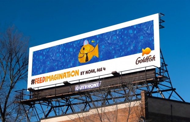 For the #FeedImagination campaign for Campbell's Goldfish, Zulu placed kids artwork on billboards, in digital storybooks and in an interactive experience